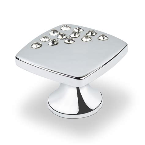 square chrome cabinet knobs shop topex hardware swarovski crystal bright chrome square