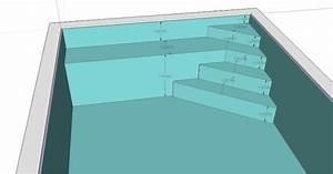 conseil pour les dimensions de la plage immerg e piscines With hauteur marche piscine beton
