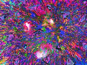 Burst of Psychedelic Colors 3D and CG image