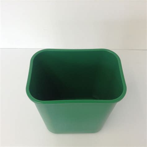 Green Plastic Recycling Bin, Wastebasket   Prestige Office