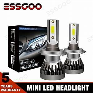 Mini H7 Led Headlight Conversion Kit Bulbs 72w 9000lm Fog