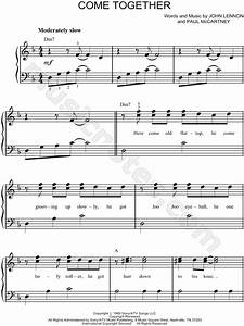 The Beatles QuotCome Togetherquot Sheet Music Easy Piano In F Major Download Print SKU MN0054621
