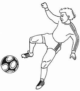 Soccer Coloring Page | Man Kicking Ball