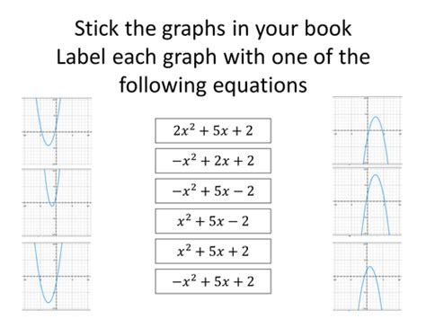 matching quadratic equations to their graph by fionaryan88