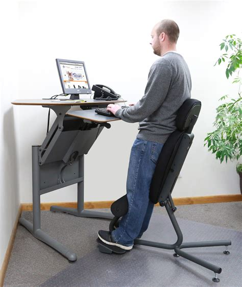 how tall is a desk stance angle chair ergonomic standing chair healthpostures