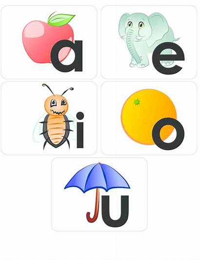Vowels Aeiou Flashcard Clipart Learning Cards Vowel