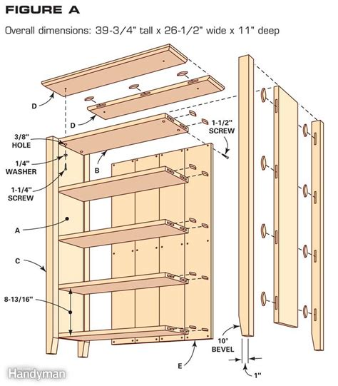 bookcase with cabinet base plans simple bookcase plans the family handyman