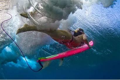 Surfer Underwater Bikini Diving Babes Wave Duck