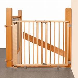 Barriere De Securite Escalier : geuther barri re de s curit pour escalier bois ~ Melissatoandfro.com Idées de Décoration