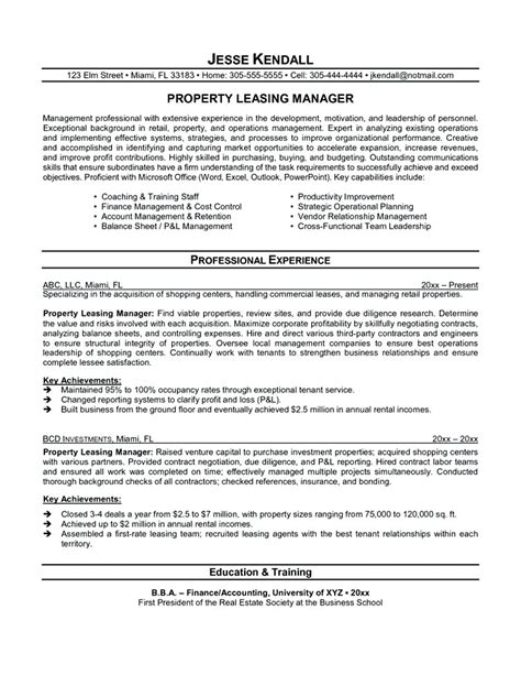 Cover Letter For Leasing Consultant Resume