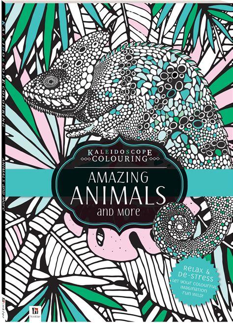 kaleidoscope colouring amazing animals   books adult colouring adults hinkler