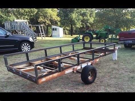 Turn A Boat Trailer Into A Utility Trailer by Boat Trailer To Utility Conversion Part 4
