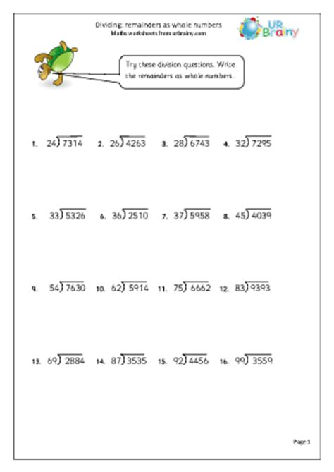 4 Digit Division Worksheets  Division Worksheetsmixed Problems Worksheets Mixed For