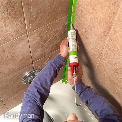 how to caulk a bathtub how to re caulk a shower or bathtub the family handyman