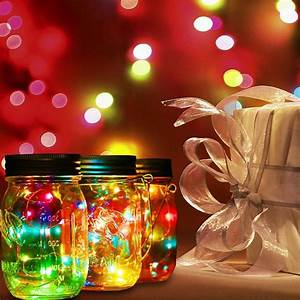 Solar Led Lights Australia 20 Led Fairy Light Solar Mason Jar Lid Lights Color