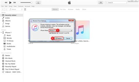 restore iphone backup how to restore iphone 7 from itunes backup on computer