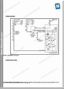 Honda Prelude 1993 System Wiring Diagrams
