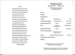 Funeral Memorial Service Program Template