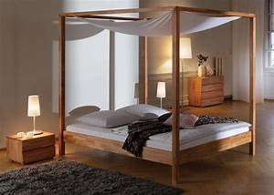 Bett 1 De Kontakt : sch nes himmelbett aus buche in 160x200 cm bett merida ~ Eleganceandgraceweddings.com Haus und Dekorationen