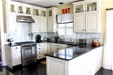 Ideas For Space Above Kitchen Cabinets - u shaped kitchen ideas with white cabinets