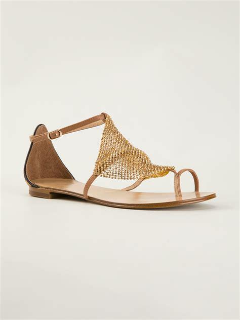 lyst lola cruz metallic sandal  metallic