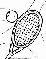 Tennis Racket Ball Coloring Pages Court Printable Drawing Player Clipart Clipartmag Racquet Getcolorings Getcoloringpages Dorable sketch template