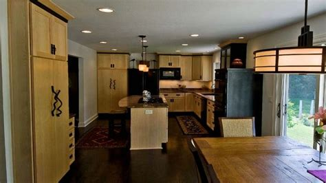 walnut floors maple cabinets dark countertops soft