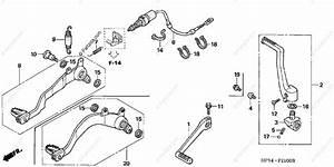 Honda Atv 2007 Oem Parts Diagram For Pedal