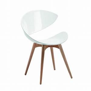 chaise blanche avec pied bois idees de decoration With deco cuisine avec chaises blanches pied bois
