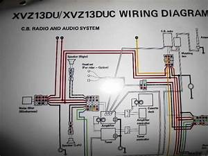Yamaha Oem Factory Color Wiring Diagram Schematic 1988 Xvz13du Xvz13duc Cb Radio