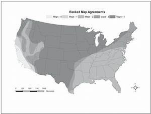 The Ranked Map Agreements For The Presence Of The Gray Wolf In The