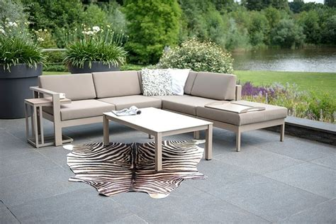 Loungeset Tuin All Weather Kussens by 4 Seasons Outdoor Cosmo Loungeset Taupe All Weather