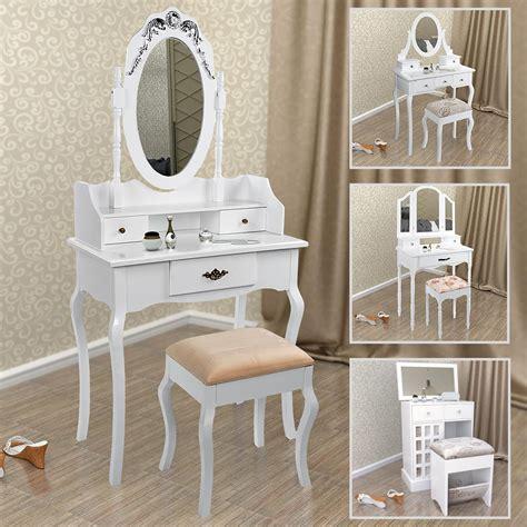 schminktisch mit spiegel und hocker schminktisch mit hocker spiegel frisiertisch frisierkommode kosmetiktisch wei 223 ebay