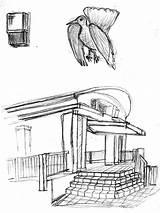 Gazebo Sketch Drawing sketch template
