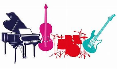 Instruments Musical Band Guitar Piano Instrumental Background