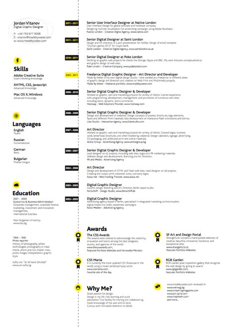 graphic design resume exles photography graphic