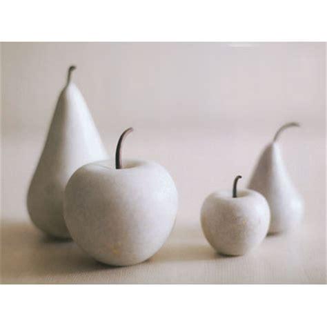 modern marble fruit collection apple  pear novacom