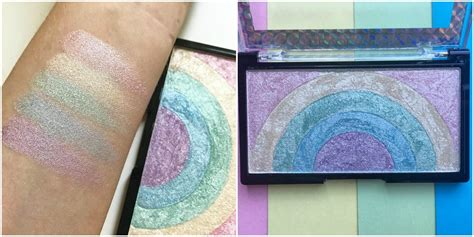 makeup revolutions  rainbow highlighter   big