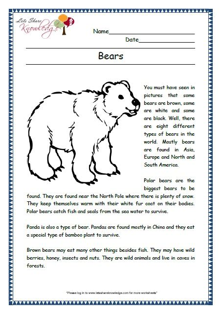 comprehensions for grade 2 ages 6 8 worksheets
