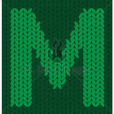 how to knit letters knitted letter m 183 gl stock images 43149