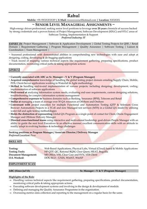 Testing Resume by Testing Sle Resumes Resume Format Templates