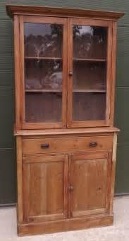 Antique Pine Bookcases by Pine Part Glazed Bookcase Cabinet Antiques Atlas