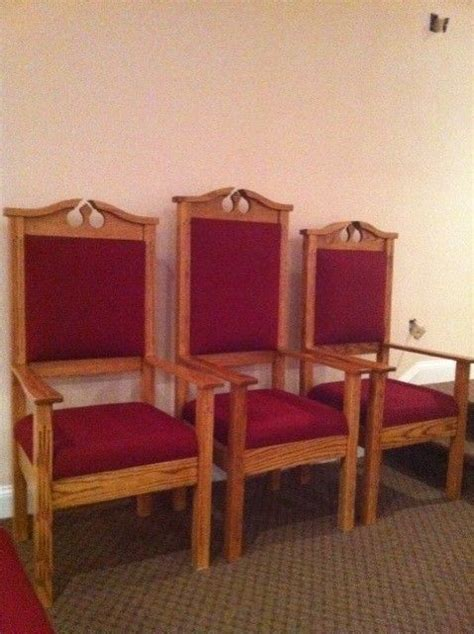 custom built clergy chairs born again pews