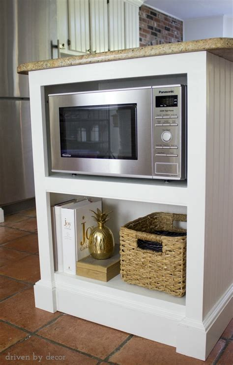 microwave in kitchen island our remodeled kitchen island with built in microwave shelf