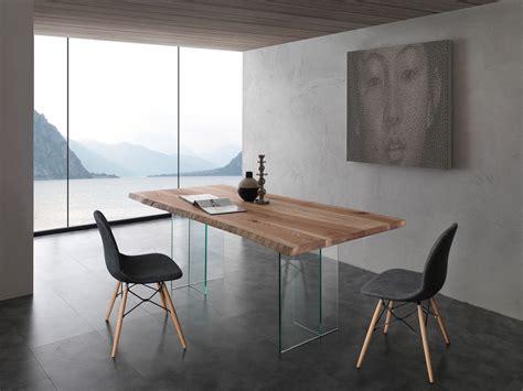 base tavolo legno aber tavolo da pranzo in cristallo e legno massello da 200
