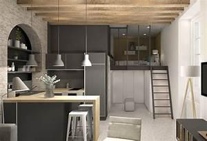 lovely cuisine ouverte sur salon 30m2 8 petite surface With cuisine ouverte sur salon petite surface