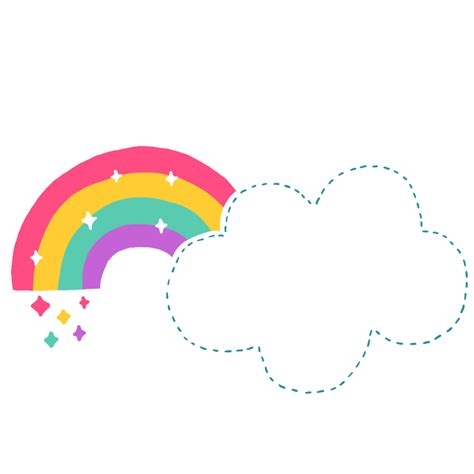 Rainbow Cloud Document file format Cartoon - Cartoon cute ...
