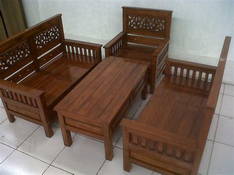 set kerusi kayu ruang tamu desainrumahidcom