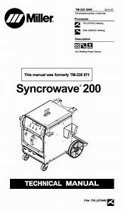 Miller Syncrowave 200 Technical Manual Serial Number