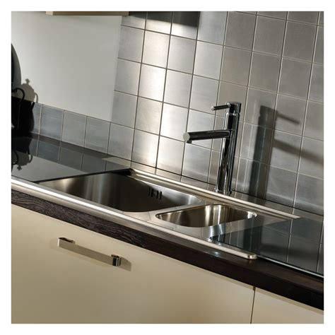 kitchen sinks for abode maxim 1 5 bowl stainless steel sink sinks taps 7164